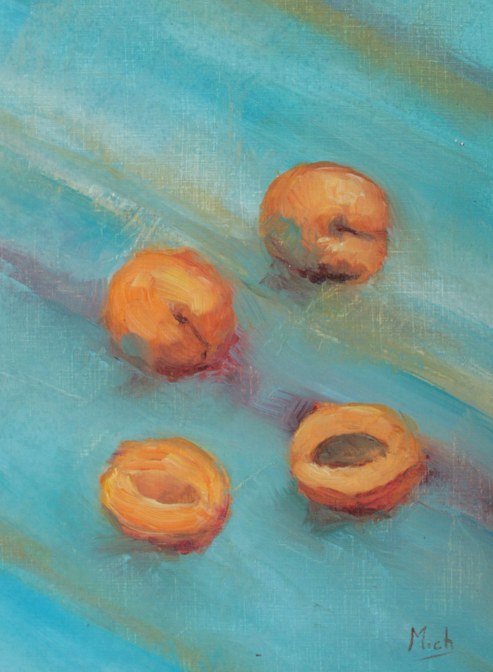 abricot peinture