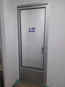 Aluminio puerta sanitaria sistema DVH3