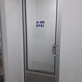 Aluminio puerta sanitaria sistema DVH