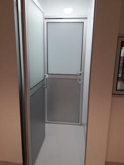 Puertas aluminio para exclusa sistema DVH
