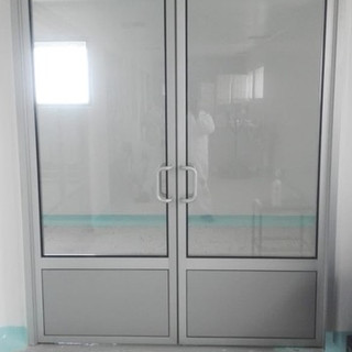 Aluminio puerta sanitaria sistema DVH2