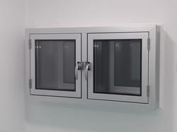 Aluminio transfer doble puerta sistema DVH