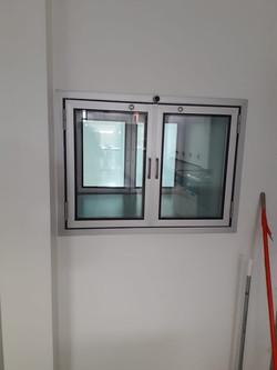 Aluminio transfer doble puerta con sistema DVH