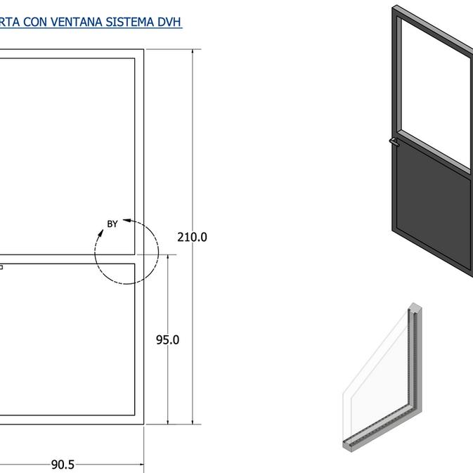Proyectos Especiale: Puerta con ventana