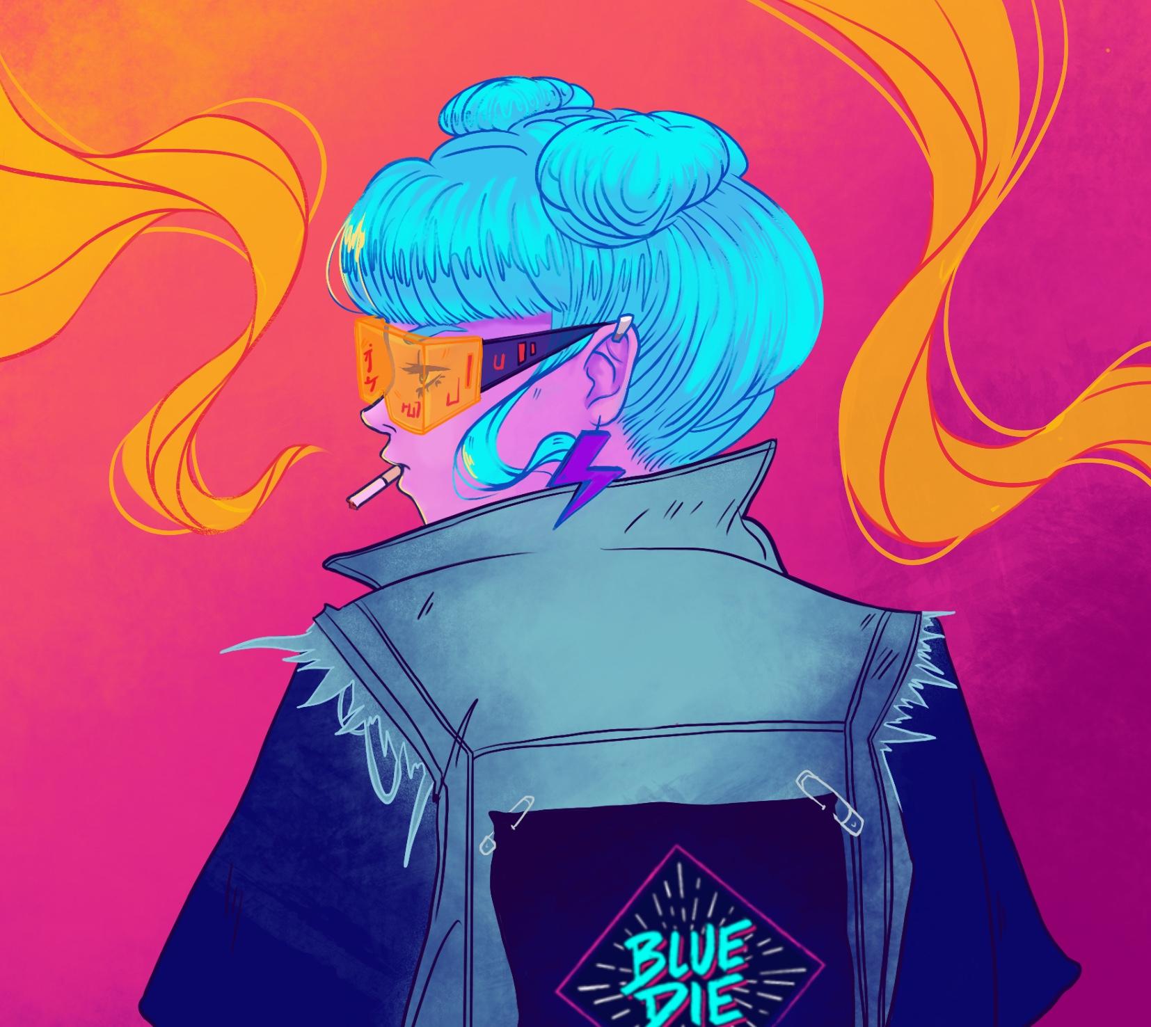 Blue Die Business Card 1