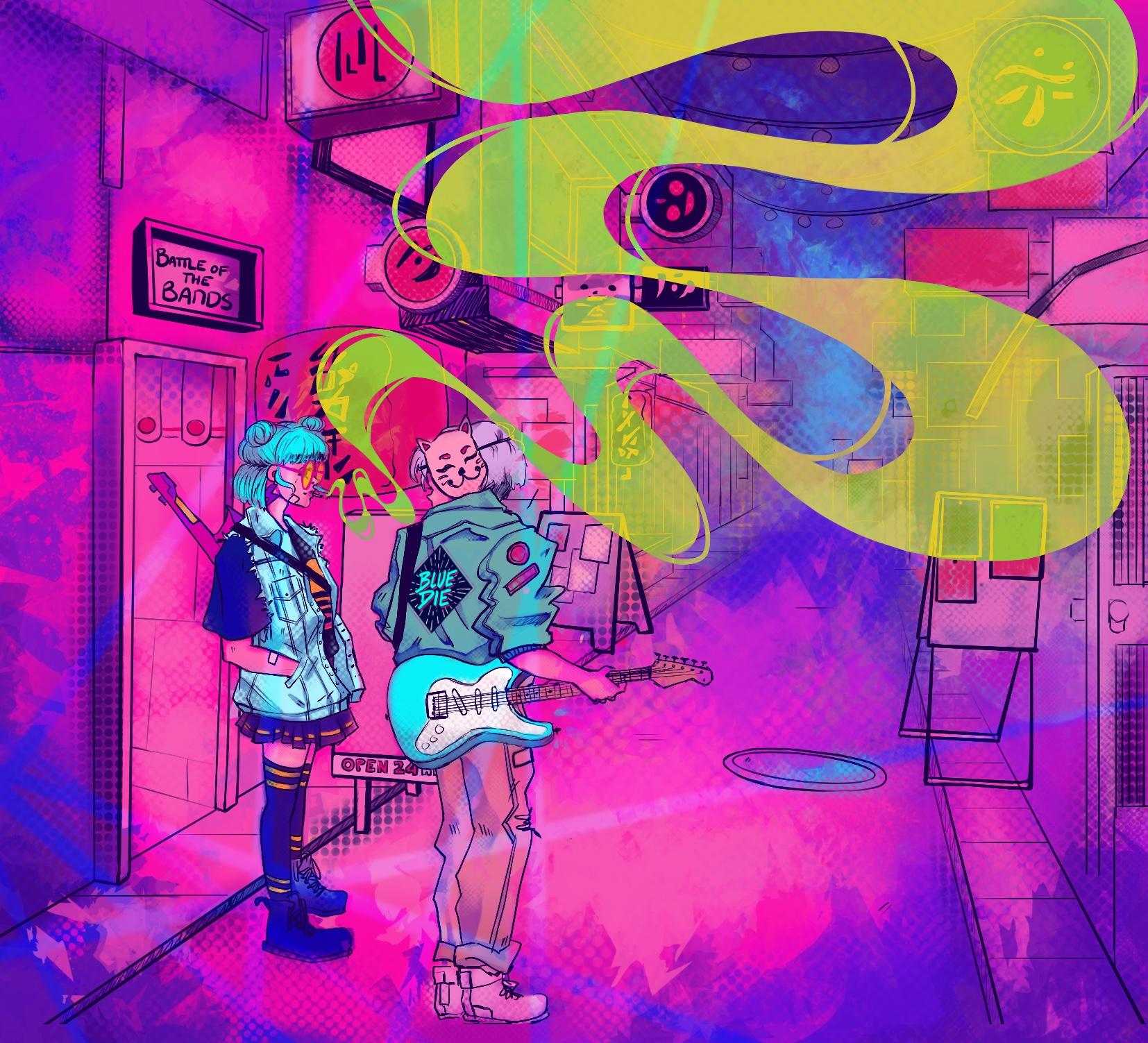 Blue Die Album art Back