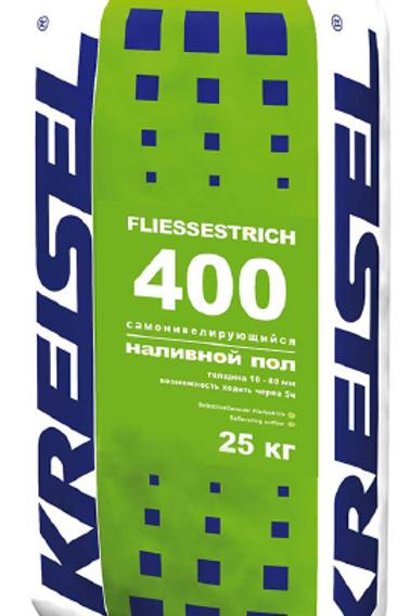 Самонивелирующийся наливной пол толщиной 10 - 80 мм FLIESSESTRICH 400