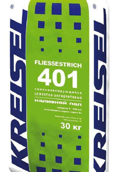 Самонивелирующийся цементно-ангидритовый наливной(5-100 мм) FLIESSESTRICH 401