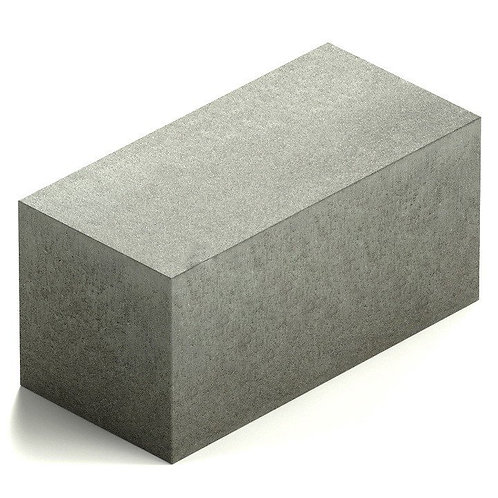 Пескоцементный блок полнотелый 390х190×188 мм