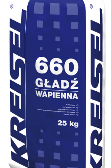 Известковая шпатлевка GŁADŹ WAPIENNA 660