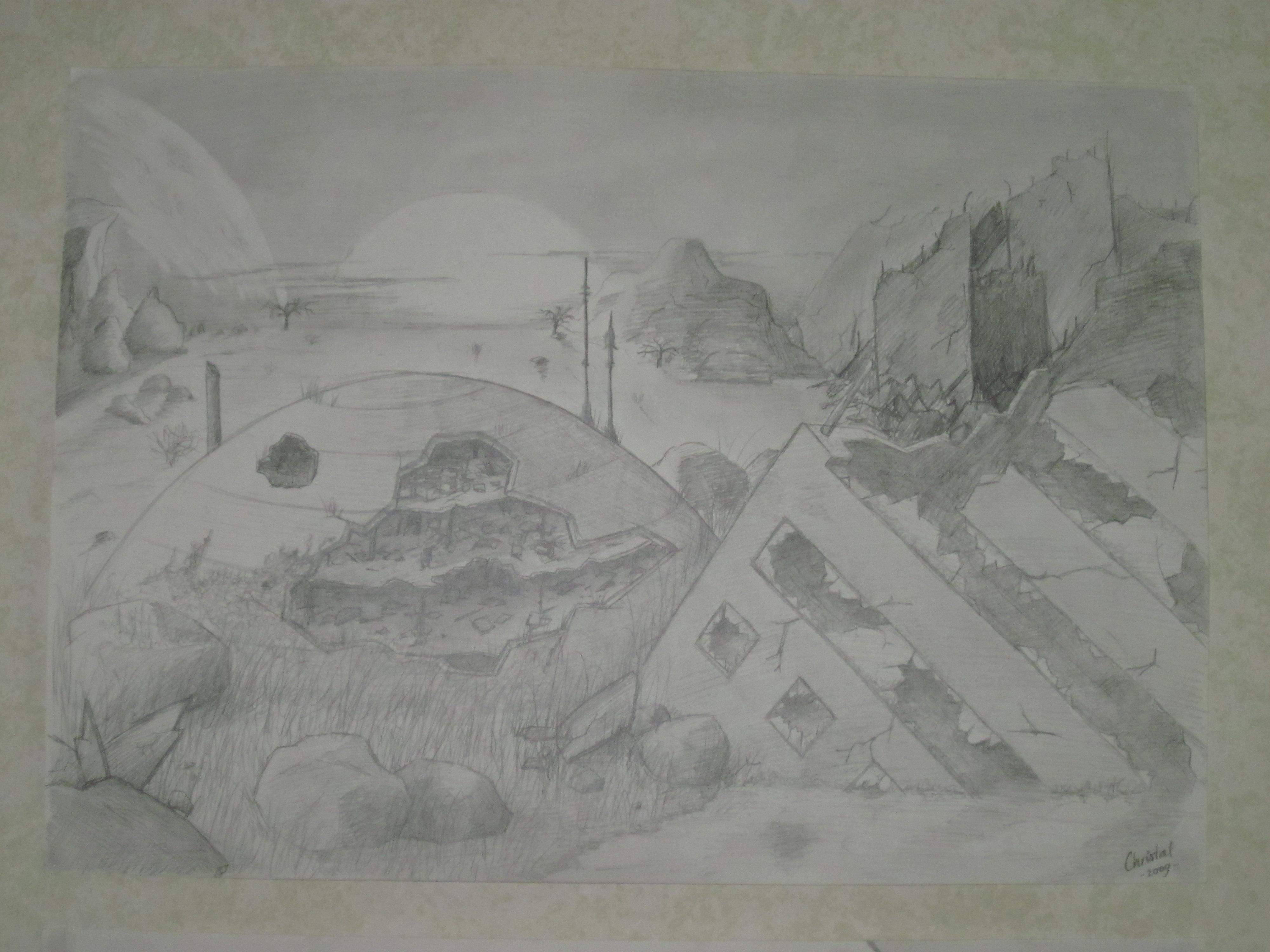 Post-apocalyptic landscape