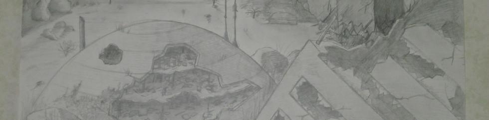 Post-apocalyptisch landschap (2009)