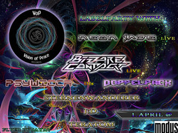 Visions of Peace Records party flyer (2017)