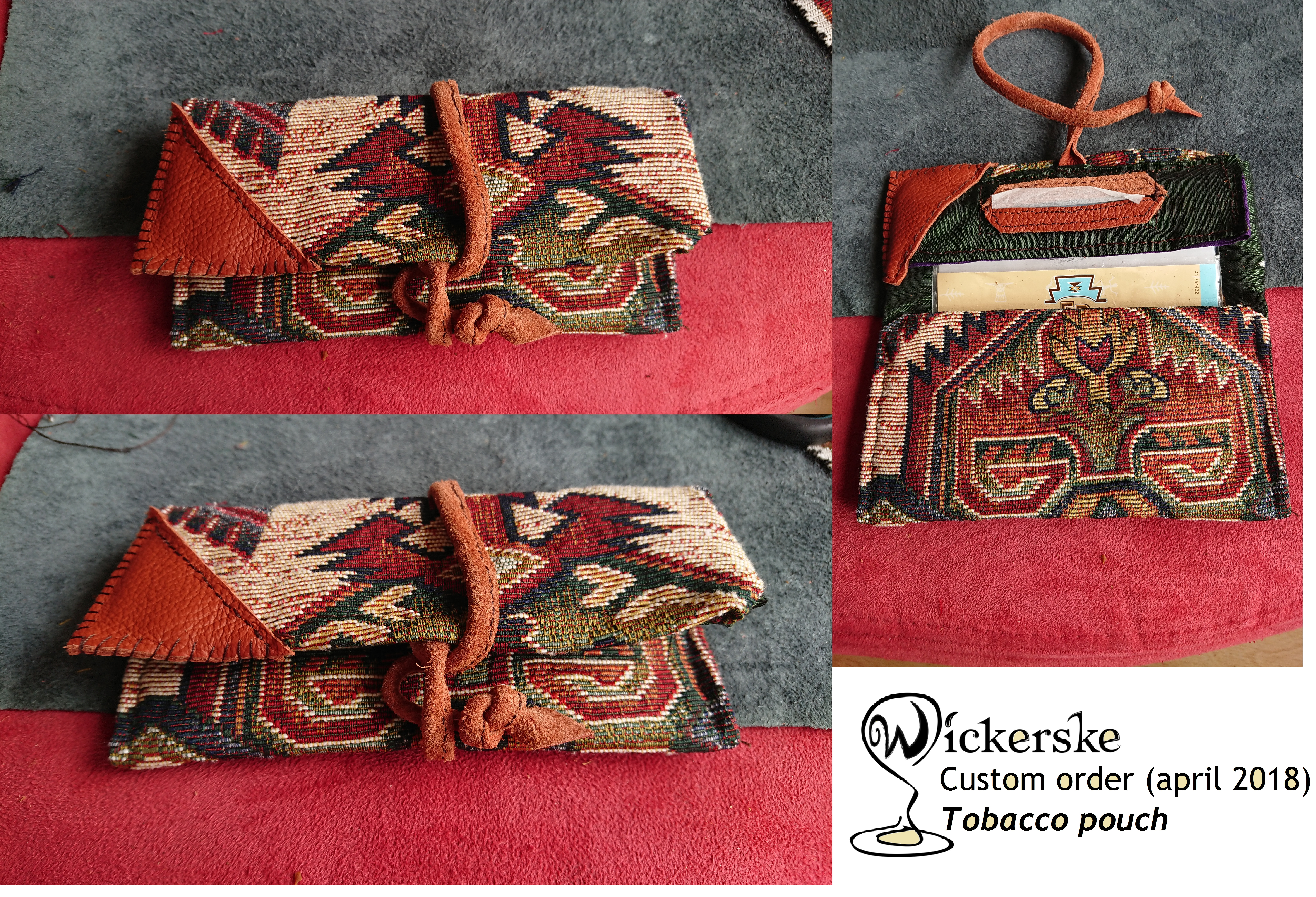 Custom order: tobacco pouch