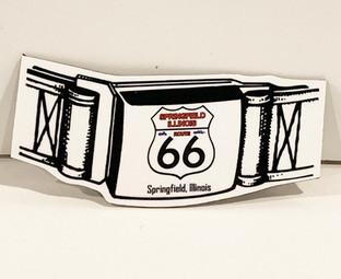 Rt 66 belt buckle magnet