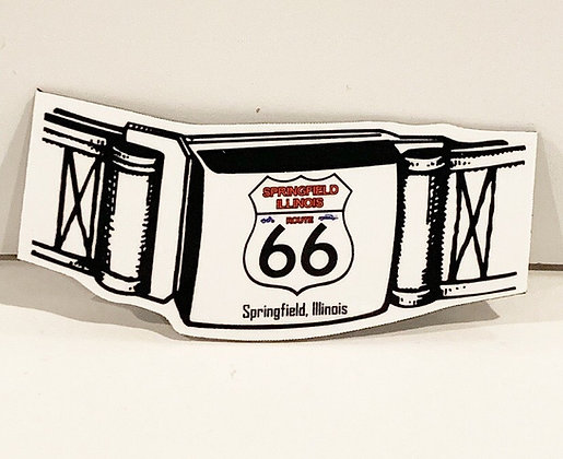 Route 66 Belt Buckle Magnet