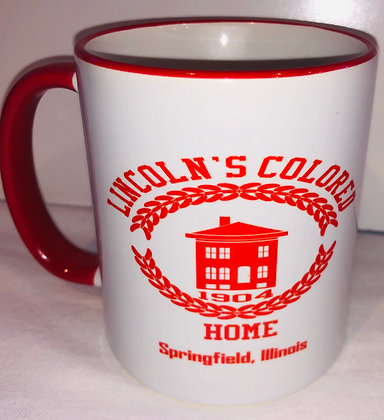 Lincoln Colored Home Coffee Mug