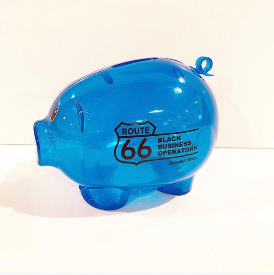 Black Business Operator Piggy Bank