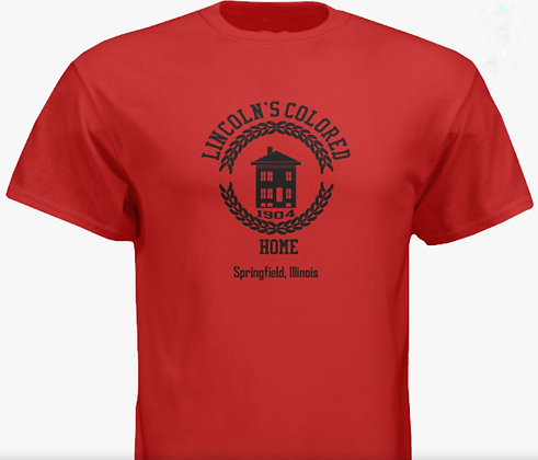 Adult Lincoln Colored Home T-shirt