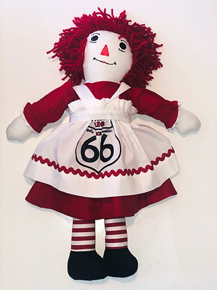 Route 66 Raggedy Ann Doll 18""