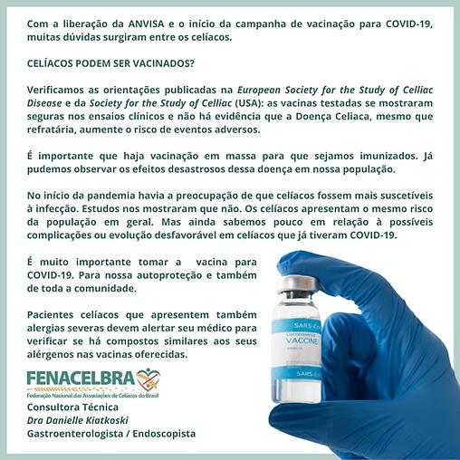 FENACELBRA covid-19 vacina