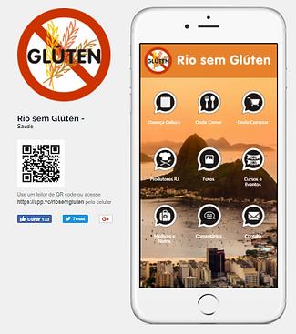 divulgação do web app riosemgluten