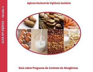 capa guia de controle de alergênicos ANVISA