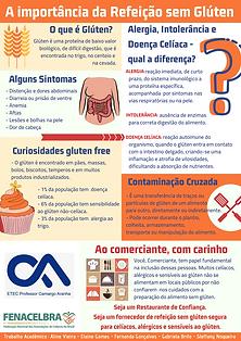 panfleto divulgação doença celíaca