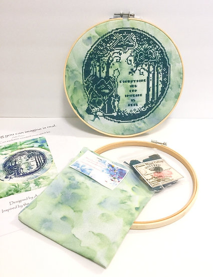 'Everything You Can Imagine is Real' Cross Stitch Kit