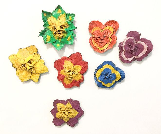 Fine Flowered Fellows Magnets
