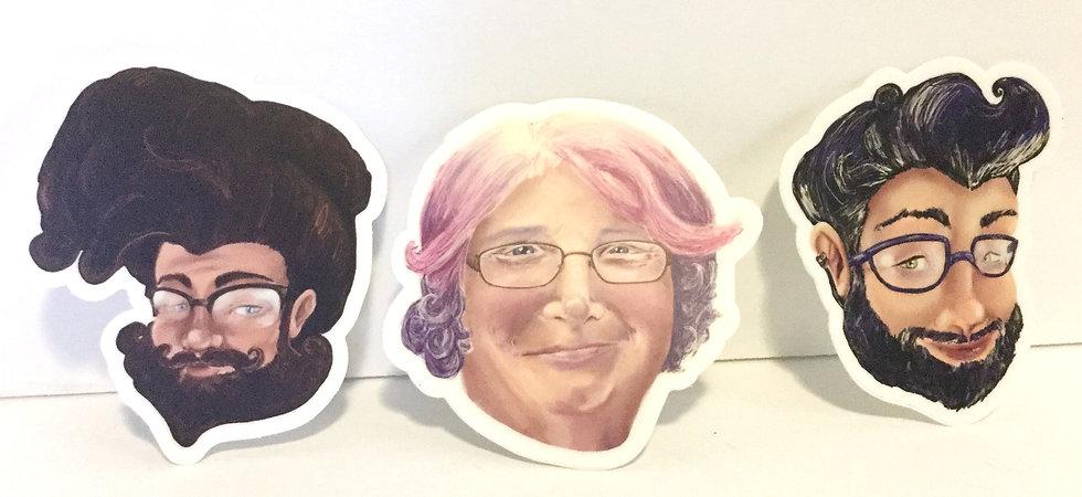 Vinyl Face Stickers