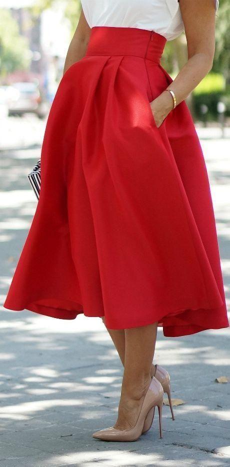 Faldas midi, faldas, skirt