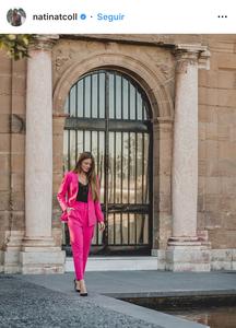 pink, blazer, pants, traje, rosado, fuscia