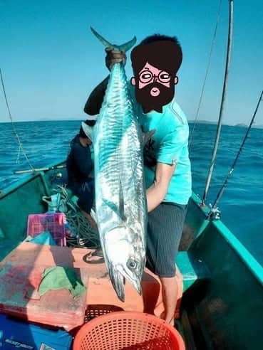 Fishing big sea fish near Pattaya