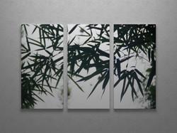 Bamboo grove triptych wall art