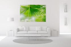 Fan palm wall art