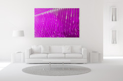 Magenta Palm Wall Art