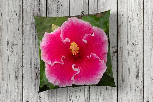 Hibiscus Design Floor Cushion