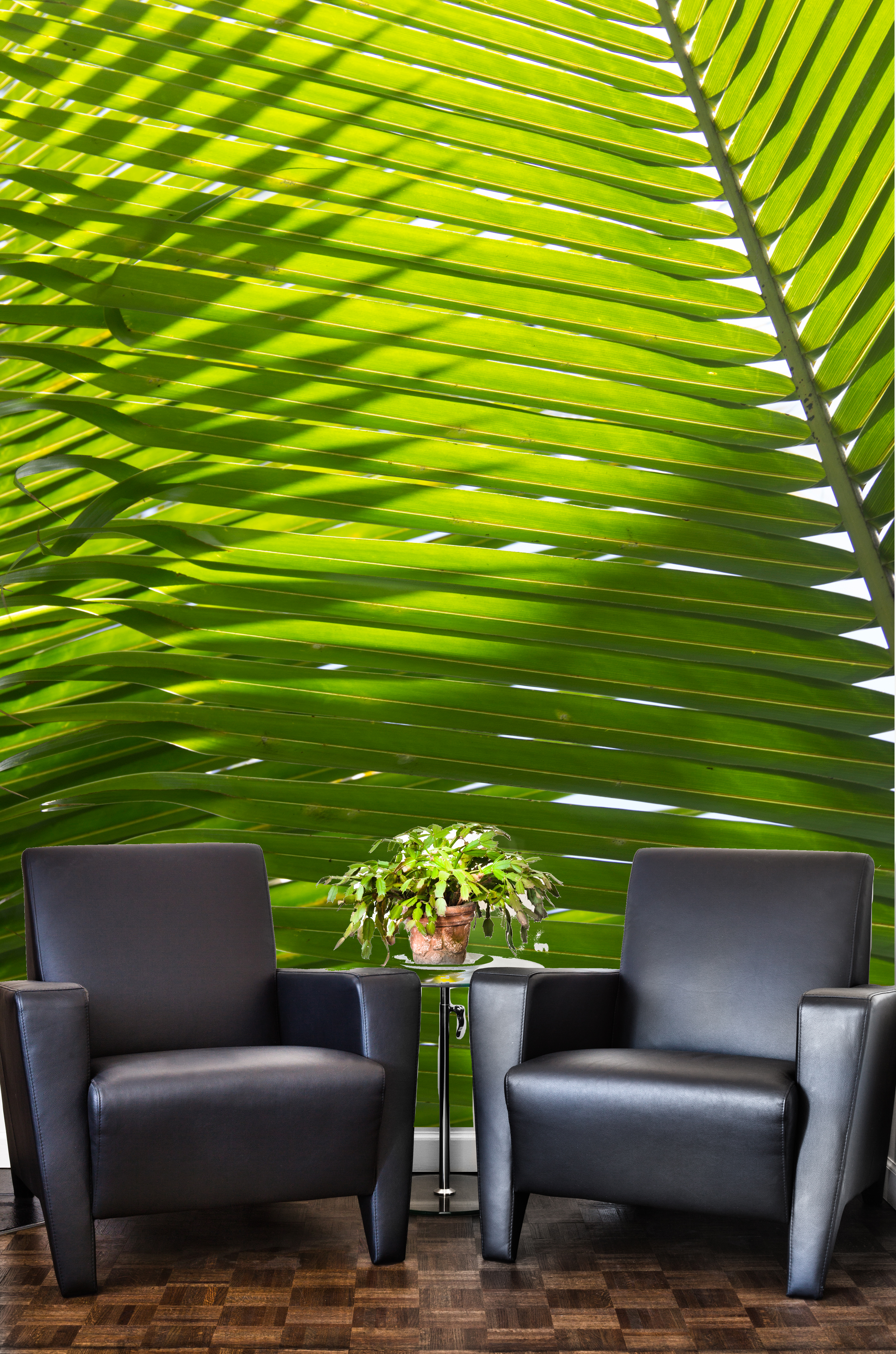 Interlocking Palm Frond Wallpaper