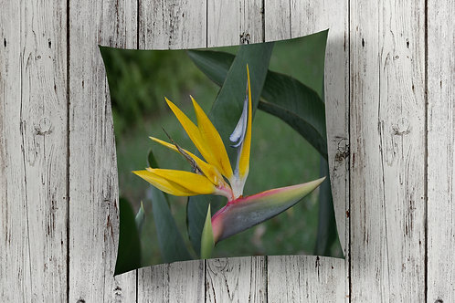 Bird of Paradise Design Floor Cushion