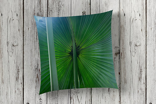 Fan Palm Design Floor Cushion