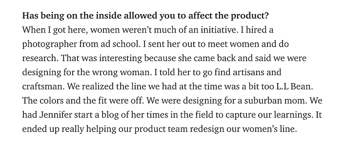 Quote from Brian Bennett on Medium