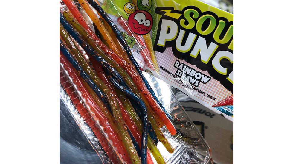 Sour Punch Rainbow Straws