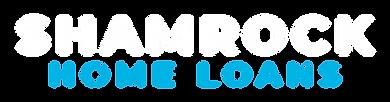 Shamrock Home Loans Logo - White and Blu