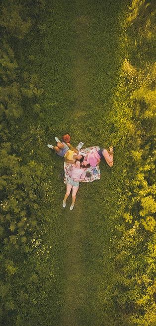 Girls in a field