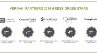 Verdani Partners 2016 GRESB Green Stars