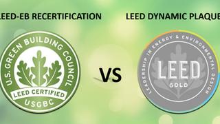 LEED-EB Recertification vs. LEED Dynamic Plaque