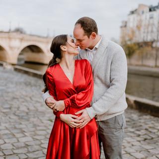 Zwangersschapshoot in Parijs Katie & Pyk