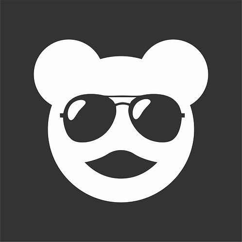 Cool Bear 100mm*100mm Car Sticker