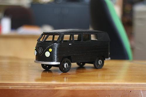 Black Volkswagen Combie Van